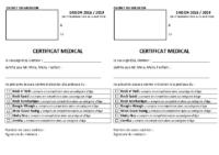 Certificat Médical 2018