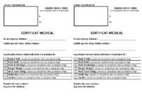 Certificat Médical 2020